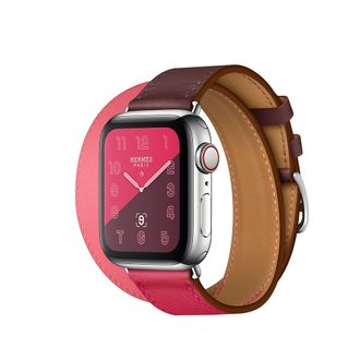 Watch Hermès S4 40мм bordeaux/rose extreme/rose azalea swift leather double tour в iStore-Moscow