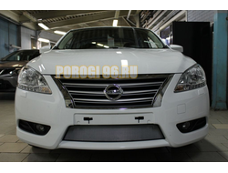 Защита радиатора Nissan Sentra 2014- chrome
