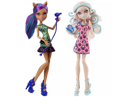 "Вайперин Горгон и Клодин Вульф ""Пугающий Макияж"" / Viperine Gorgon & Clawdeen Wolf - Scare and Make-Up 2 pack"