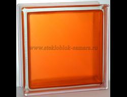 Стеклоблок Vitrablok окрашенный внутри арктика оранжевый