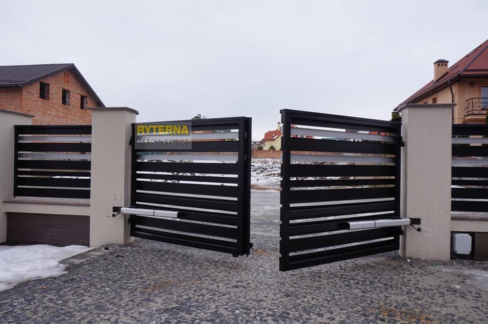электропривод для распашных ворот - установка - Киев, Одесса, Харьков, Днепр