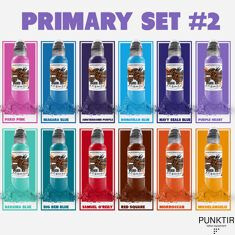 КРАСКА WORLD FAMOUS TATTOO INK - Color Primary Set #2 - 12шт