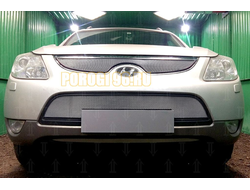 Защита радиатора Hyundai IX55 2009-2013 chrome середина