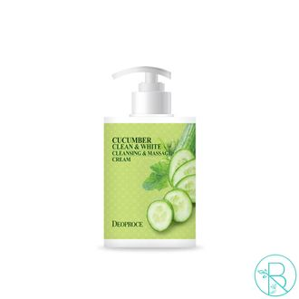 Крем для тела Deoproce Cucumber Clean & White Cleansing & Massage Cream массажный и очищающий (450мл)
