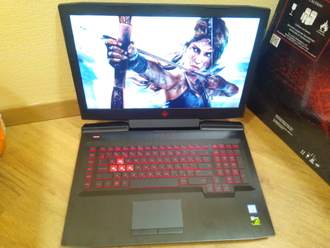 HP OMEN 17-AN010UR ( 17.3 FHD IPS 120Hz 7-7700HQ GTX1060(6Gb) 16Gb 1Tb + 128SSD )