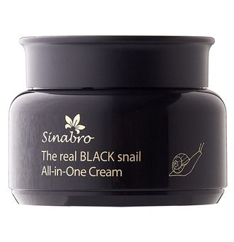 The real BLACK snail All-in-One Cream, 100 мл, Sinabro