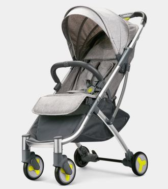Прогулочная коляска Xiaomi BEBEHOO START lightweight four-wheeled stroller серая