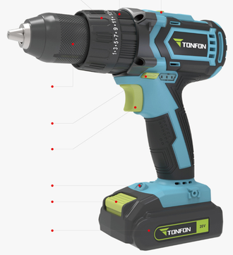 Дрель перфоратор Xiaomi Tonfon 20V Rechargeable lithium battery impact drill