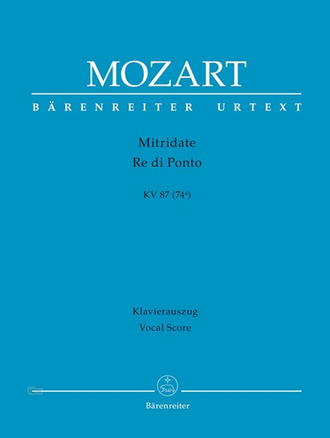 Mozart Mitridate, Re di Ponto K. 87 (74a) Vocal Score