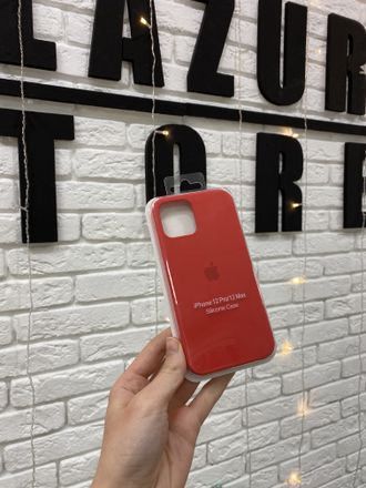 ЧЕХОЛ APPLE SILICONE CASE ДЛЯ IPHONE 12/12 PRO красный
