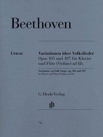 Beethoven Variations on Folk Songs op. 105 and 107 for Piano and Flute (Violin)