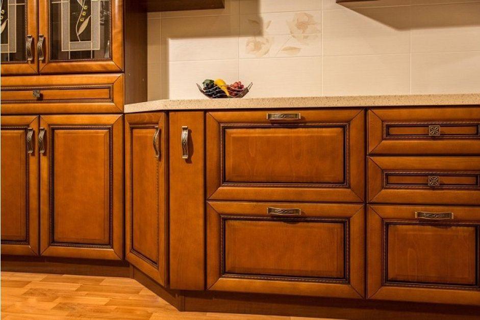 Кухня из массива бука Валенсия