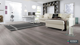 Виниловый пол Wineo 400 Wood Starlight Oak Soft DB00116 в интерьере