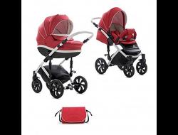 Универсальная коляска Tutis Mimi Style (2 в 1) Цвет Красный лен/белая кожа