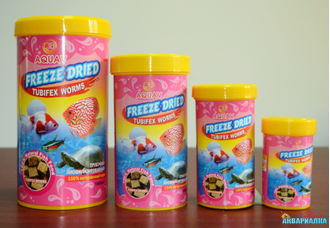 AQUAV Freeze Dried Tubifex Worms  100мл