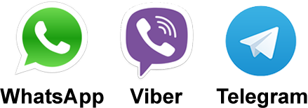 Viber, WhatsApp, Telegram