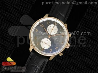 Portuguese Chrono IW371433 Jacky Chen ZF 11 Best Edition on Black Leather Strap