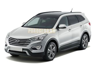 Пороги на Hyundai Grand Santa Fe (2013-…) Black