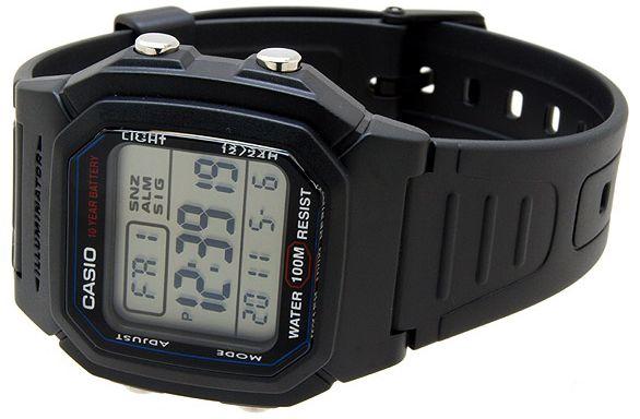 06ae0be4 Мужские электронные японские наручные часы Casio W-800H-1A купить в ...