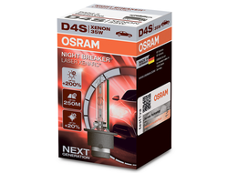 Ксеноновая лампа D4S OSRAM 66440XNL Night Breaker Laser Xenarc (+200%), 1шт