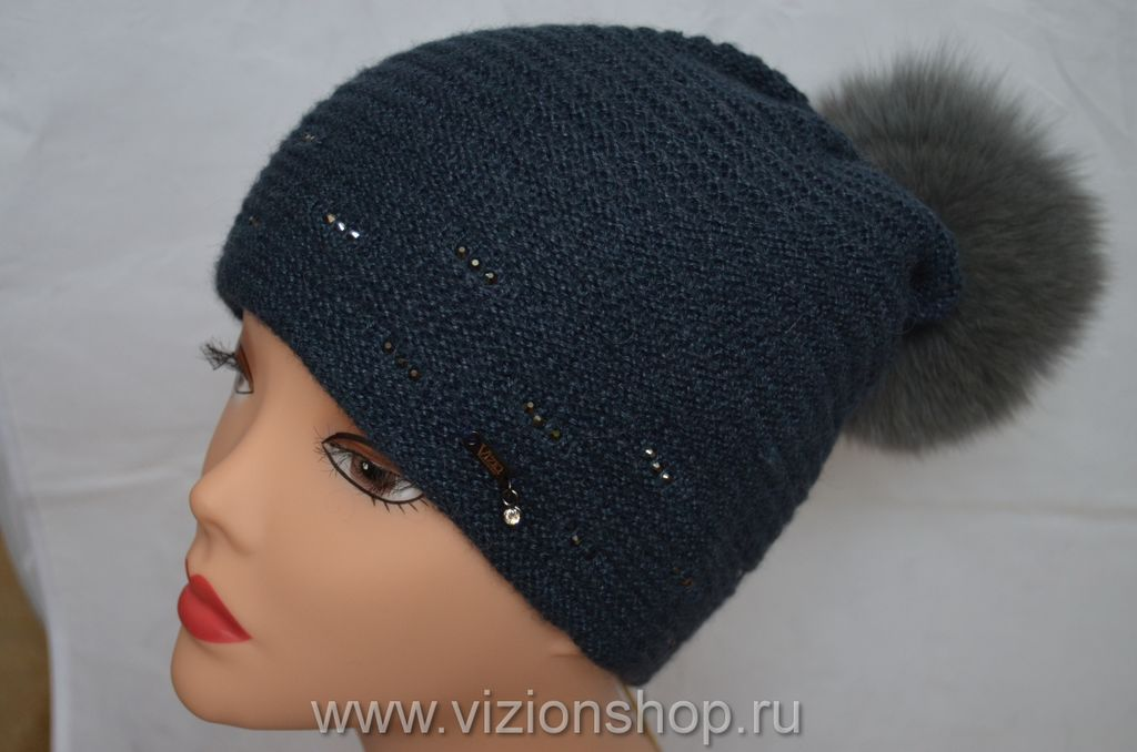 вязаная шапка с помпоном купить Vizio 5399 италия