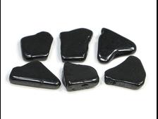 Шунгит, галтовка плоская в ассортименте (15-20 мм, 1-2 г) №22849