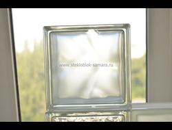 Стеклоблок Vitrablok окрашенный внутри волна жемчужина