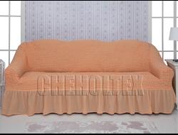 Чехол Стандарт на 3-х местный диван, цвет Персиковый