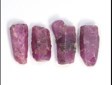 Корунд красный (рубин), кристалл, в ассортименте, Танзания (12-17 мм, вес: 1-1,6 г) №21284