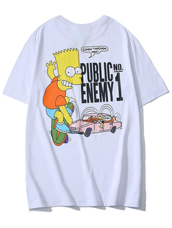 Футболка Off White Bart Simpson белая