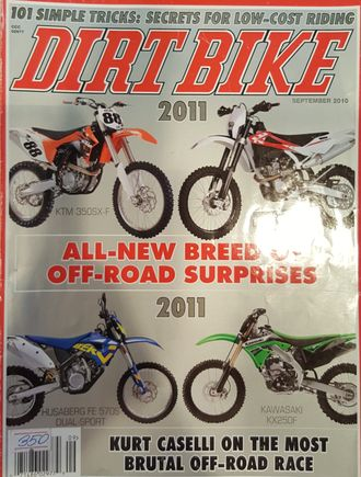 DIRT BIKE Magazine September 2010 Иностранные журналы Sport Moto Bike, Intpressshop