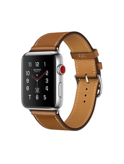 Купить Apple Watch Hermès Series 3 38мм with single tour fauve barenia leather в iStore-Moscow