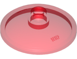 Dish 3 x 3 Inverted (Radar), Trans-Red (43898 / 6273482)