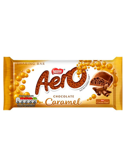 Пористый шоколад Nestle Aero Giant Block Caramel с карамелью