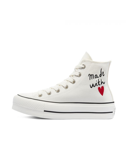 Кеды Converse Chuck Taylor All Star Valentine's Day Platform High Top белые