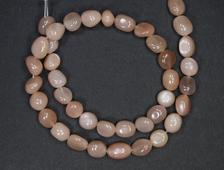 Бусина Лунный камень, галтовка 8-10 мм (1 шт) №18954
