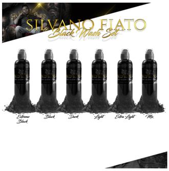 "SILVANO FIATO BLACK WASH SET 6 - ""World Famous"" (США 6 шт по 1OZ - 30 МЛ)"