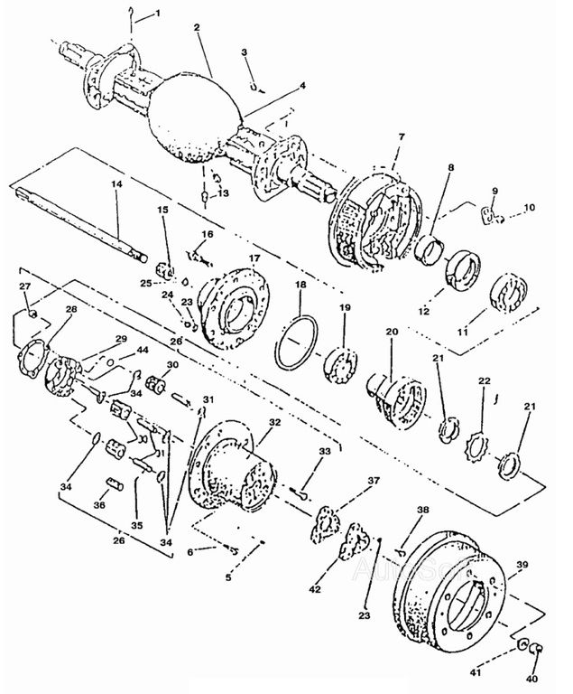 Балка с редукторами 1784.h.20, 1786.h.20