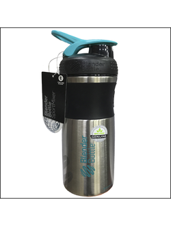 ШЕЙКЕР BLENDDERBOTTLE SPORT MIXER Stainless 28 OZ BLACK\teal