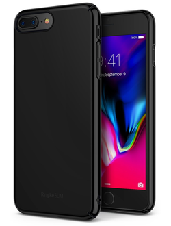 Чехол на Apple iPhone 7 Plus и 8 Plus, Ringke серия Slim, цвет черный глянец (Glossy Black)