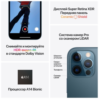 Смартфон Apple iPhone 12 Pro 512GB Graphite (MGMU3RU/A)