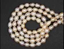 Бусины Жемчуг розовый, шар 9*7 мм (1 шт.) №18964