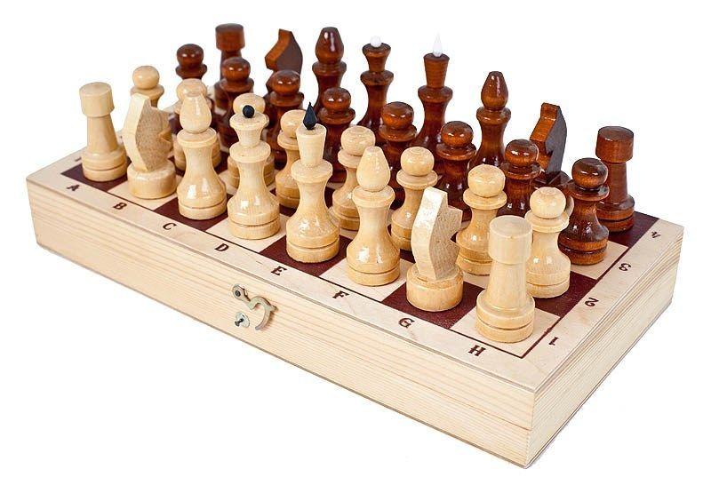Фото Шахматы обиходные лакированные