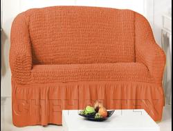 Чехол Стандарт на 2-х местный диван, цвет Терракот