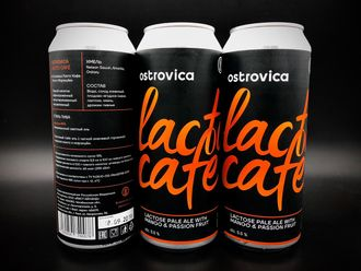 Lacto Cafe Passion fruit + Mango Lactose APA Лактозная АПА Маракуйя + Манго 5,5% IBU 25 0,5л (180)  Ostrovica Brewery в Банке