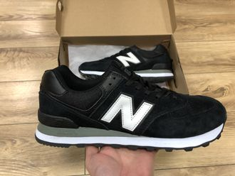 Кроссовки New Balance 574 All Black/White