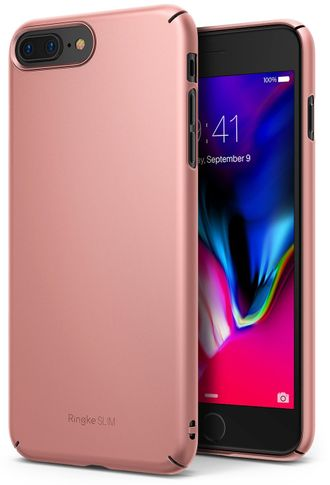 Чехол на Apple iPhone 7 Plus и 8 Plus, Ringke серия Slim, цвет розовое золото (Rose Gold)