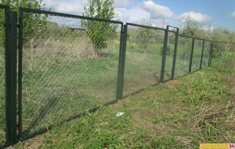 """Забор из сетки рабицы """"Премиум"""""""