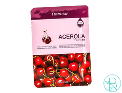 Маска тканевая Farmstay Visible Difference Mask Sheet Acerola с экстрактом ацеролы