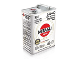 MJ-112. MITASU PLATINUM PAO SN 5W-40 100% Synthetic 4л